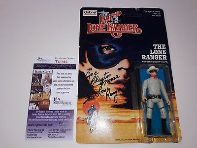 Rare Signed Clayton Moore As The Lone Rangers Gabriel Action Figure Jsa Coa