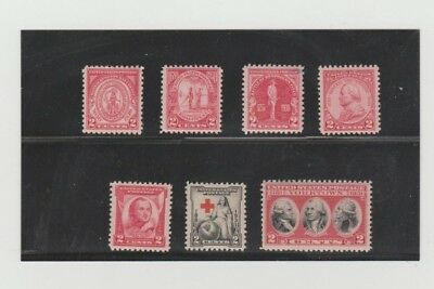 U.S. 1930-31 Commemorative Year Set #682-683, 688-90, 702-03 COMPLETE, mNH Fine