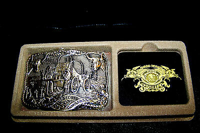 Texas 2 Second Belt Buckle Jamboree Solid Brass THE COWHANDS Ballews Fur Leather