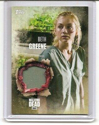 2016 Topps The Walking Dead Season 5 Beth Green Authentic Shirt Relic Card