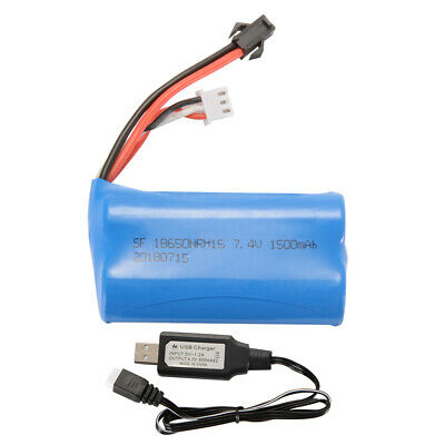 7.4V 600mAh 18350 Battery USB Charger Cable for UDI001 Venom Speed Boat BC743