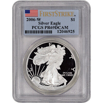 2006-W American Silver Eagle Proof - PCGS PR69 DCAM - First Strike