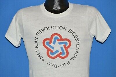 vintage 70s AMERICAN REVOLUTION BICENTENNIAL 1976 SOFT t-shirt EXTRA SMALL XS