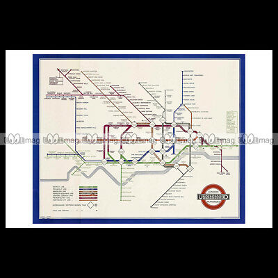 #phpb.000293 Photo LONDON UNDERGROUND MAP 1936 Advert Reprint