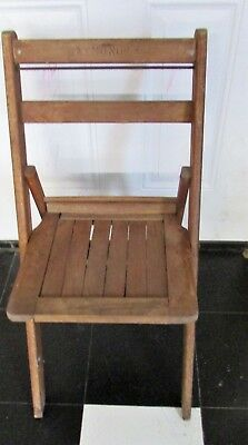 Vintage Antique Wood Folding Chairs Mid Century Oak