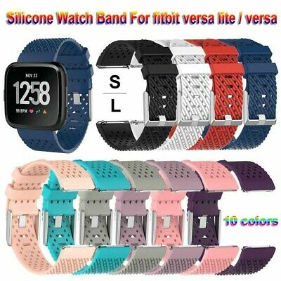 Soft Silicone Watch Band Sport Bracelet Strap S/L For Fitbit Versa/Versa lite
