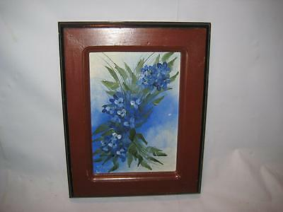"""Vintage Signed Framed Original Oil Painting On Board By K. Reiss ~ 8"""" X 6"""""""