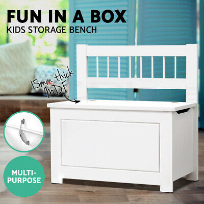 Artiss Kids Toy Box Chest Storage Cabinet Bench Container Children Organiser