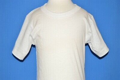 vintage 50s FRUIT OF THE LOOM DEADSTOCK WHITE UNDERSHIRT t-shirt YOUTH S SZ 8