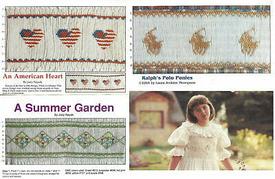 An American Heart, A Summer Garden, Ralph's Polo Ponies SMOCKING Designs CHOICE