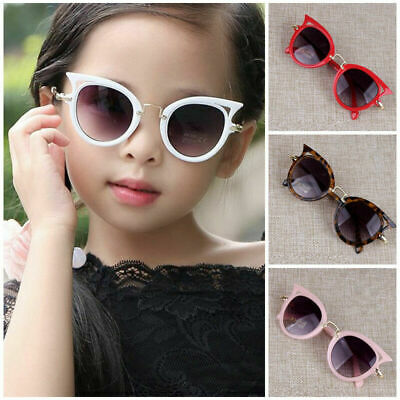 Child Cat Eye Sunglasses Boy Girl Sun Glasses Kids Eyeglasses Beach Eyewear UK