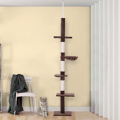 8.5ft Cat Climbing Tree 5-Tier Kitty Activity Center with Scratching Post