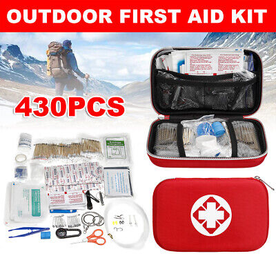 430PCS SOS First Aid Kit Emergency Outdoor Equipment Box Camping Survival Tools