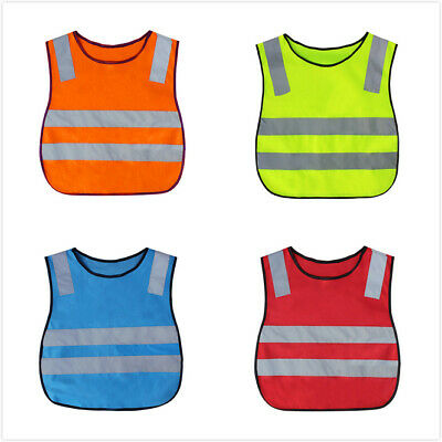 GOGO Kids Running Safety Vest Reflective Elastic Waistband Outdoors Sports Child