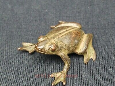 Collectibles Chinese Tibet Copper Carving Fortune Frog Statue Pendant Decoration
