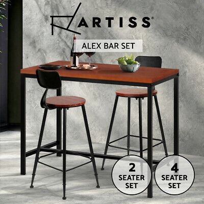 Artiss 2/4x Bar Table Stools Dining Set Vintage Barstools Kitchen Chairs Coffee