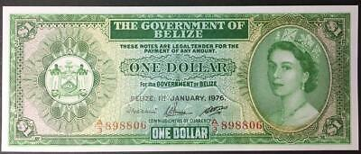 Belize $1 1st January 1976, Uncirculated. Pick 33C