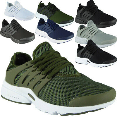 Mens Lace Up Trainers Running Comfy Fitness Gym Sports Casual Flat Shoes Size