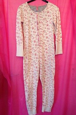 PJ All In One White Pink Flower Butterfly Print Pj Next Age 12 Years -Quick Sale