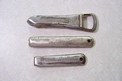 3 different Vintage Beer Can Bottle Openers DUQUESNE