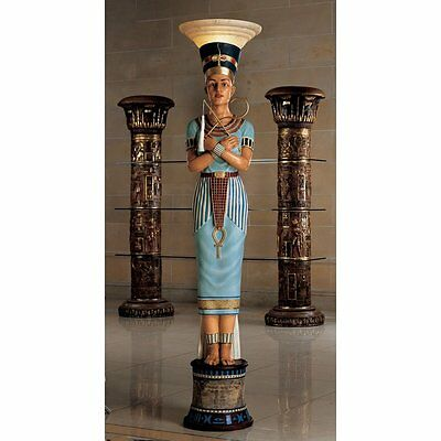 KY7918 - Queen Nefertiti Sculptural Floor Lamp - Nearly Life Size! - New!