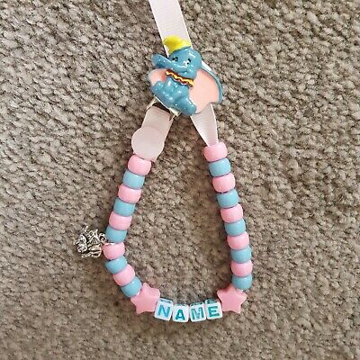 **dumbo** Personalised Dummy Clip👶any Name & Colour!! 5 Charms To Choose From!!