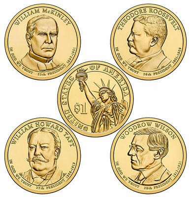 2013 P&D Presidential One Dollar Coins U.S. Mint Rolls Money Collectibles Coin
