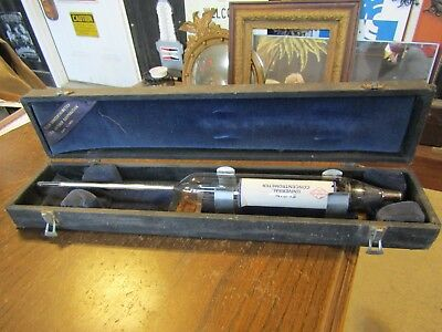 "VTG Glass Boiler Concentration Meter Industrial  Steampunk 16"" long PYREX"