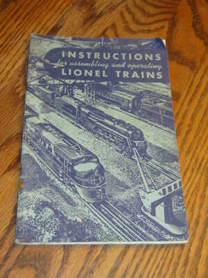 1949 Instructions for Assembling and Operating Lionel Trains softcover book