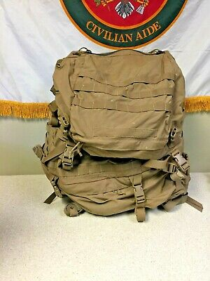 Used USMC FILBE Rucksack Bag with Complete Frame  - Coyote Brown