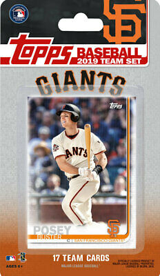 2019 Topps Factory Sealed Team Set - 17 Cards - San Francisco Giants