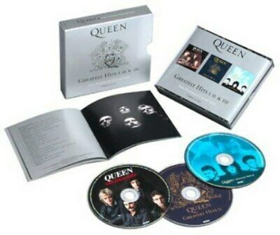 Queen Greatest Hits I II & III Platinum Collection 3CD Box Set Sealed, Booklet