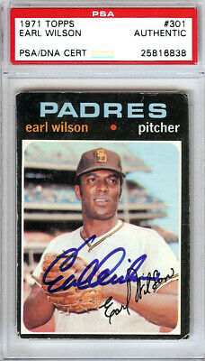 Autographs-original Movies Earl Wilson Detroit Tigers Signed 3x5 Index Card Psa Slabbed 2019 Official