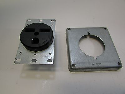 Receptacle 6-30R 30 Amps 250 Volts 2 Pole 3 Wire With Square Cover New