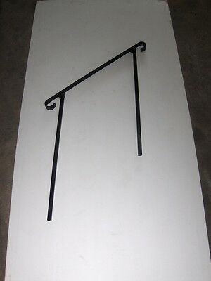 "38""  A-Justa-Rail for in ground next to step Iron stair Railing step grab Steel"