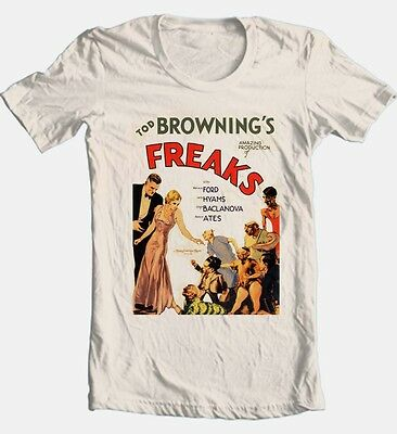 Freaks Movie T-shirt classic horror movie retro 100% cotton graphic printed tee