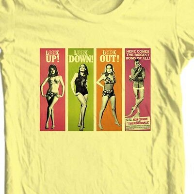 James Bond girls T shirt 007 Thunderball 60s retro movie film cotton graphic tee