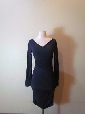 f323ef1952a NWOT EXPRESS DARK BLUE CRISSCROSS SWEATER DRESS sz S) -  24.99 ...