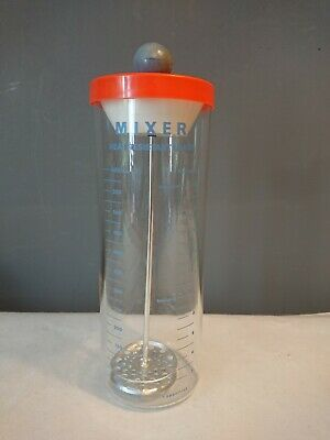 Vtg Retro Pyrex Glass Mixer Hot Drinks Heat Resistant Measure Frother 80s