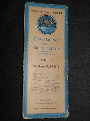 Vintage Ordnance Survey Map of England South c1952 - Isle of Wight, Sussex (11)
