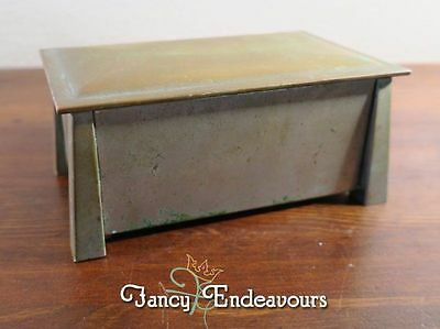 Mission Arts & Crafts Fatima Cigarette Advertising Nickle Silver Box Orig Patina