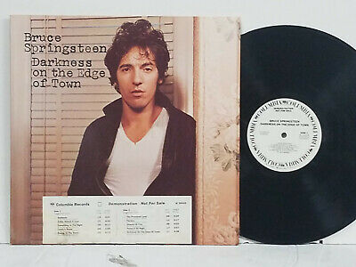 BRUCE SPRINGSTEEN Darkness On The Egde Of Town 1978 White Label Promo LP