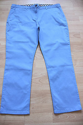BODEN light blue cotton ankle skimmer trousers size 6R  NEW