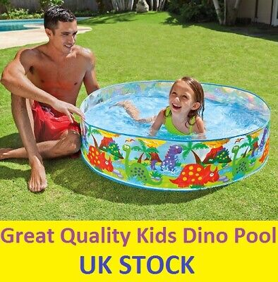Children Dino Pool Kids Toddler Happy Snapset Swimming Paddling Garden Play Out