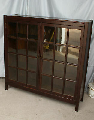 Antique Double door Bookcase Mission Arts and Crafts – orginal finish