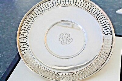 Sterling Silver Serving Plate Candy /Fruit Bowl Monogrammed By Wright Kay & C0