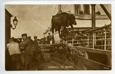 (Lf9057-506) RP, Farewell to Orkney, Bull,  Unused VG-EX