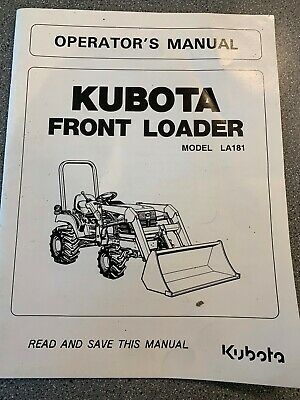 KUBOTA LA401 FRONT Loader Illustrated Parts List Manual