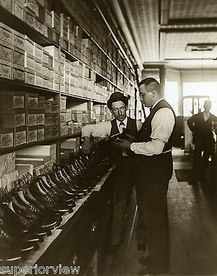 Old Time Shoe Store Shoe Salesman Boot Display Antique Boot Salesman 1900 LOOK