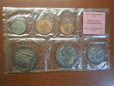 New Zealand 1968 UNCIRCULATED 6 Coins Set 1c to 50c Plastic spotty Special Issue